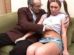 Teacher is obtaining sloppy blowjob