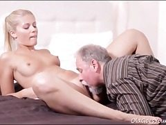 elderly young,pussy eating,small bra-stuffers