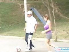 Ample tits juggle as teenager plays soccer
