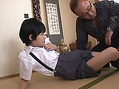 Naho Hazuki and Rina Hatsune are naughty and alluring college girls getting out of their college uniforms and into some hot sex! There is slew of faux-cock play and handjobs for these gals and the horny dude they are with. Position 69 and a rock hard scre