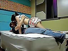 Korean hookup episode dilettante gf pounded in couch by her Korean bf