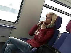 uber-cute german woman lovemaking on public transport