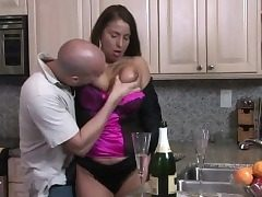 Phat Boobs Stepmom Lets Her Stepson To Help Ou
