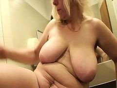 Blonde Mature Porked In A Public Mall Rest room