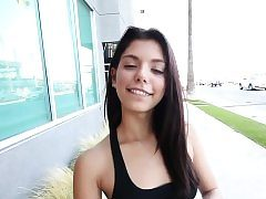 Latina teen jizzed in point of view