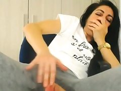 Wet pussy in pants with a fuck hole goes on a orgasmic rampage