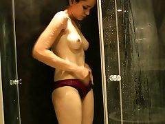 Natural Tits Indian Doll Jasmine Taking Shower