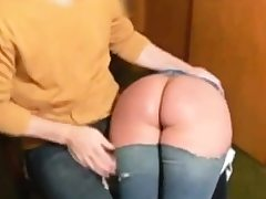 Enema and spanking for whore Naomi 19