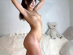 Small breasted teenager solo