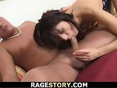 Brunette takes rough punishment for hotwife