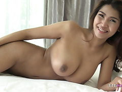 busty chinese doll let's foreigner fuck her raw