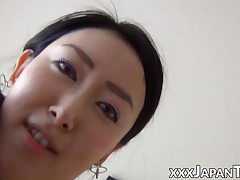 Chinese amateur throating puffies before Point of view penetration