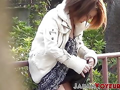 Trendy Japan babes titty teasing all around the city