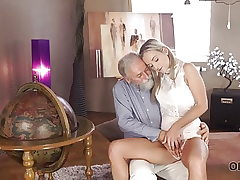 OLD4K. Shanie Ryan finally tries fuck-stick of her Geography...