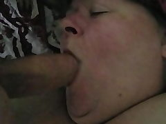 Fat Granny Deepthroats My Cock