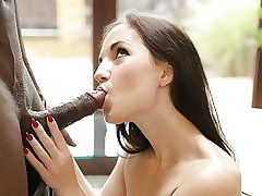 BLACK4K. Adorable Kristy Dark-hued gets a yam-sized pipe in her...