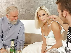 DADDY4K. Naughty daddy dragged son's damsel into unexpected...