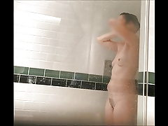 unaware wife in shower