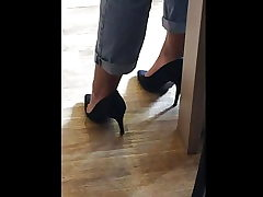 Candid soles and heels at work #11