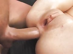 Small titted youthfull hottie getting doggie