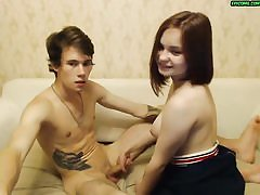 Amateur web cam teenagers friends romps
