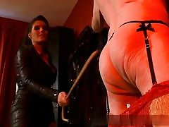 Older man all nude and nasty is prepped to obey his mistress on video